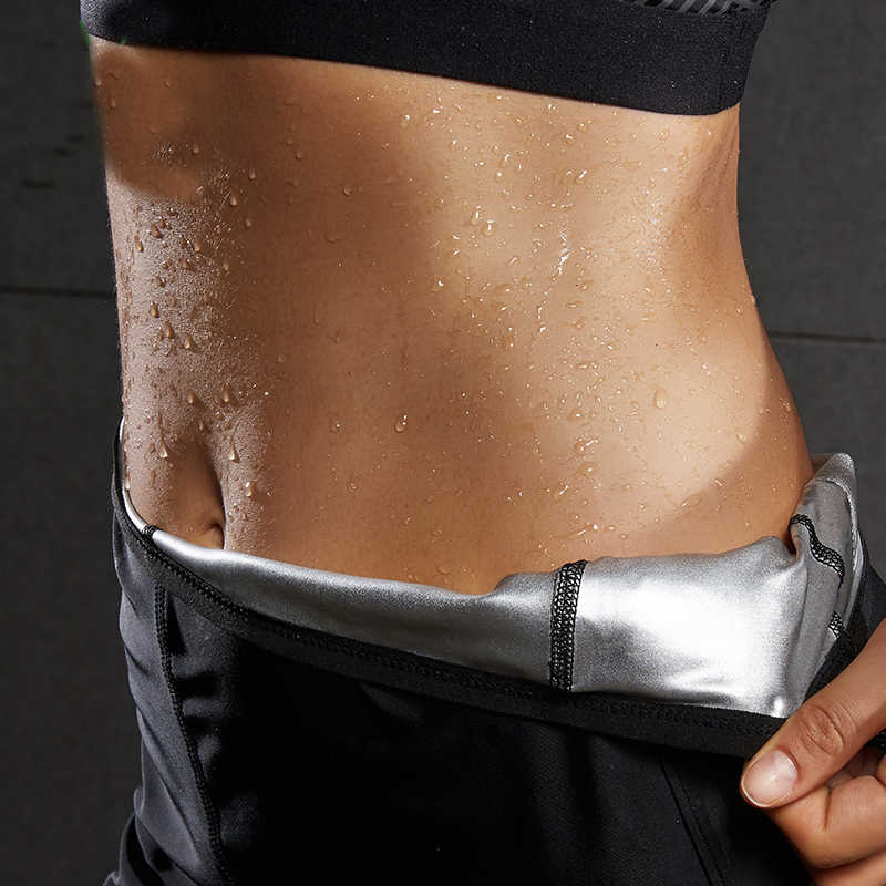 Для женщин горячие формочек пот Штаны Body Shaper Вес терять жир Берн стрейч пояс для похудения Штаны Бег yoga activewear