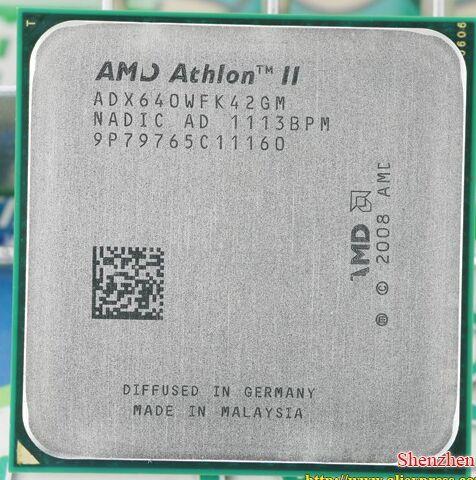 Livraison gratuite AMD Athlon II X4 640 3 GHz AM3 938-pin Processeur Dual-Core 2 M Cache 45nm Bureau CPU scrattered pièces