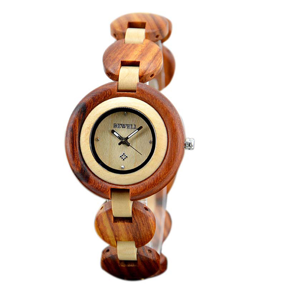 Wooden Women Watch Small Dial Girl Wood Watches Casual Quartz Clock Wristwatch ZS 010A