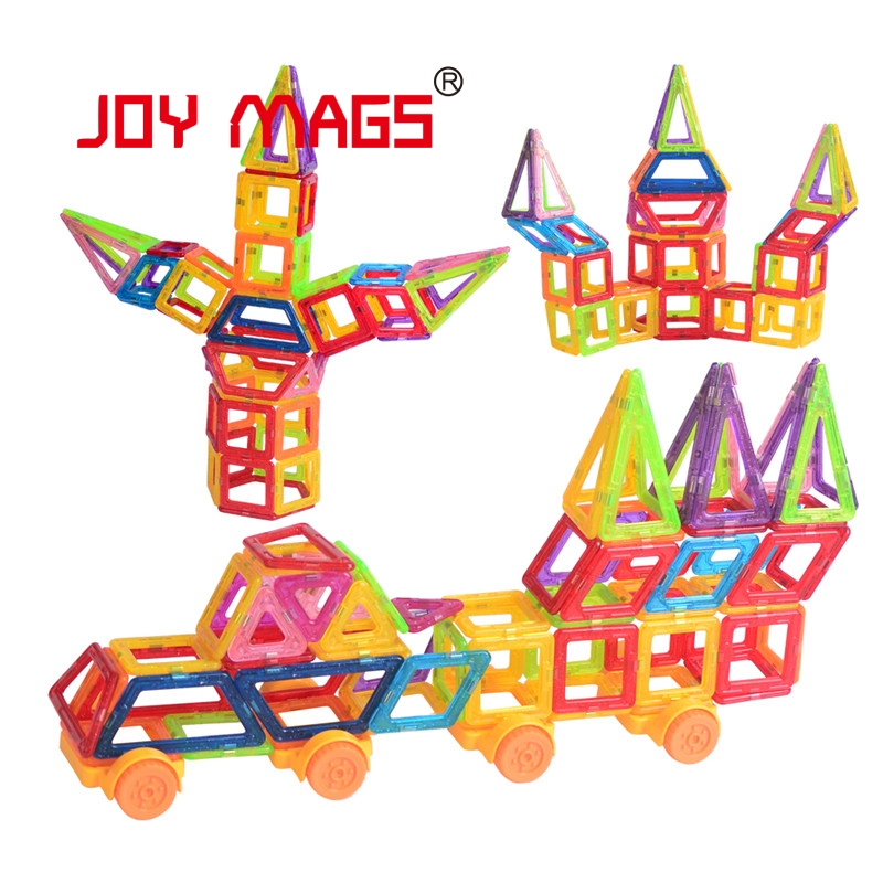 JOY MAGS Toy Mini Magnetic 110/130 Pieces/lot Construction Building Blocks Toys DIY 3D Magnetic Designer Educational Bricks 150pcs joy mags brand magnetic tiles models blocks diy building toys inspire adult
