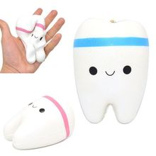 Slow Rising Kawaii 11cm Teeth Soft Squeeze Cute Bread Cake Stretchy Toy Gift Pendant Gags & Practical Jokes TH0060