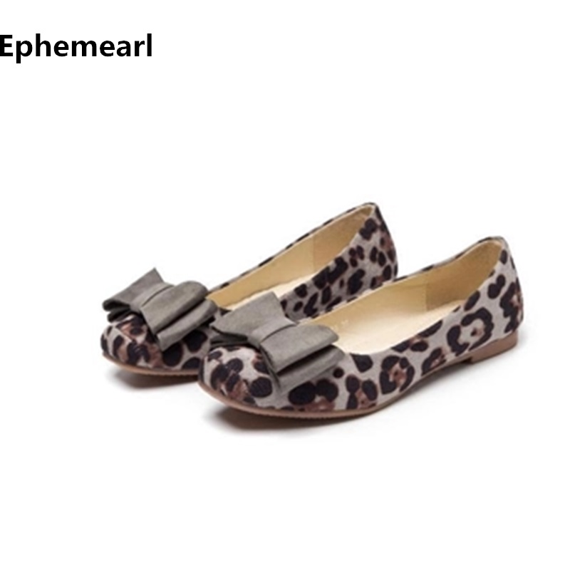Ladies Leopard Printed Flats Square Toe Driving Shoes Grey Red Soft Slip ons For Pregnancy Women Breathable Plus Size 10 3