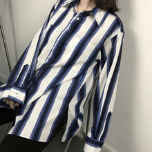hot deal buy mazefeng 2018 new spring women shirts loose style shirts women casual shirts ladie striped fashion long sleeves women tops