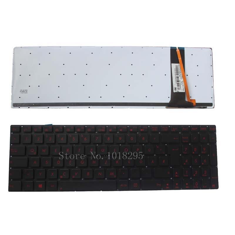 German Laptop Keyboard for ASUS N56 N56V N76 N76V N76VB N76VJ N76VM N76VZ U500VZ N56VV N56VZ U500VZ U500 U500V GR Backlit