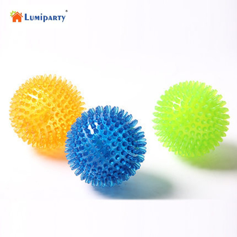 LumiParty 6cm Pet Puppy Dogs Chew Ball Toy Top Cool Rubber Spike Dog Chew Toy Color Random-35