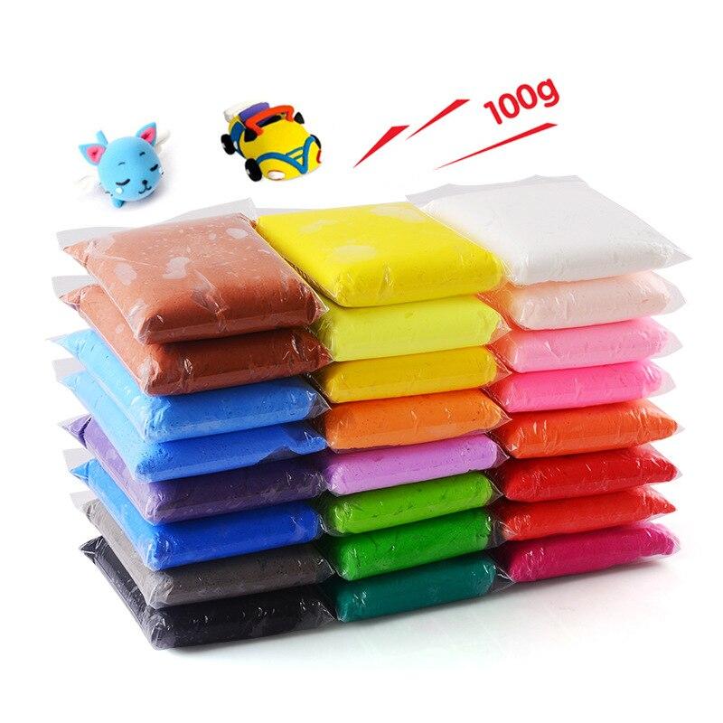 100g/bag Modeling Clay Soft Fimo Polymer Plasticine Modelling Clay Light DIY Educational Toys For Children Kids Slime 12 Color
