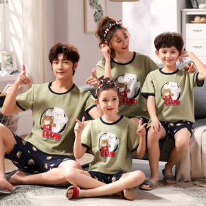 Image 4 - Summer 2019 New Childrens Pajamas Set Cartoon Family Matching Outfits Mother and Daughter Sleepwear Dad Son Pyjama Suit Lounge