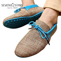 Marca de la Llegada Hombres de La Moda de Verano Zapatos Transpirables Zapatos de Tejido de Los Hombres con cordones Planos Ocasionales de Conducción Zapatos Mocasines QS616