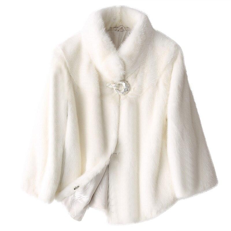 Abrigo de piel auténtica de visón ropa de Mujer 2018 Chaqueta de invierno Mujer coreana abrigos cortos y chaquetas Mujer Vintage piel Chaqueta Mujer MY1056