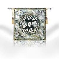 117*117Belgium Moroccan Tapestry Gobelin Home Decor Cloth Wall Hanging Tapestry Celtic Life Tree symbolizes harmony balance