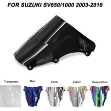 For 03-10 Suzuki SV650 SV1000 SV 650 1000 2003-2010 Windshield Double Bubble Windscreen Wind Deflectors 2004 2005 2006 2007 2008 for suzuki sv650 sv1000 s 2003 2012 2009 2005 2006 2007 2008 2010 2011 silver seat cover cowl solo seat cowl rear sv 1000 650