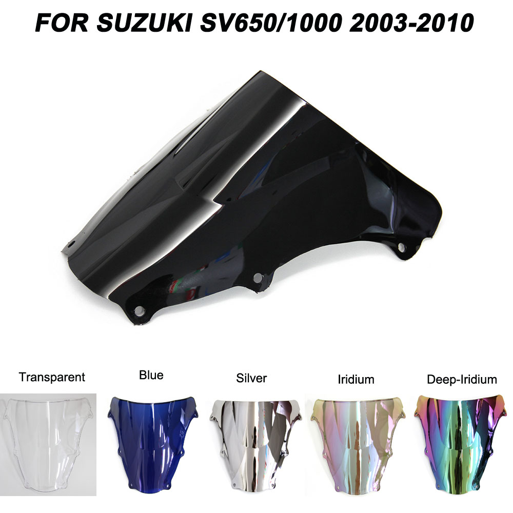 For 03-10 <font><b>Suzuki</b></font> <font><b>SV650</b></font> SV1000 SV 650 1000 2003-2010 <font><b>Windshield</b></font> Double Bubble Windscreen Wind Deflectors 2004 2005 2006 2007 2008 image
