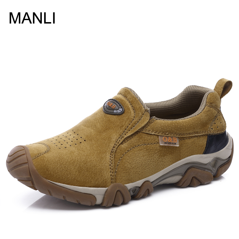 MANLI Outdoor Walking Shoes Trekking Brand Sport Leather Men Breathable Sneakers Climbing Outventure Sapatos MasculinoMANLI Outdoor Walking Shoes Trekking Brand Sport Leather Men Breathable Sneakers Climbing Outventure Sapatos Masculino