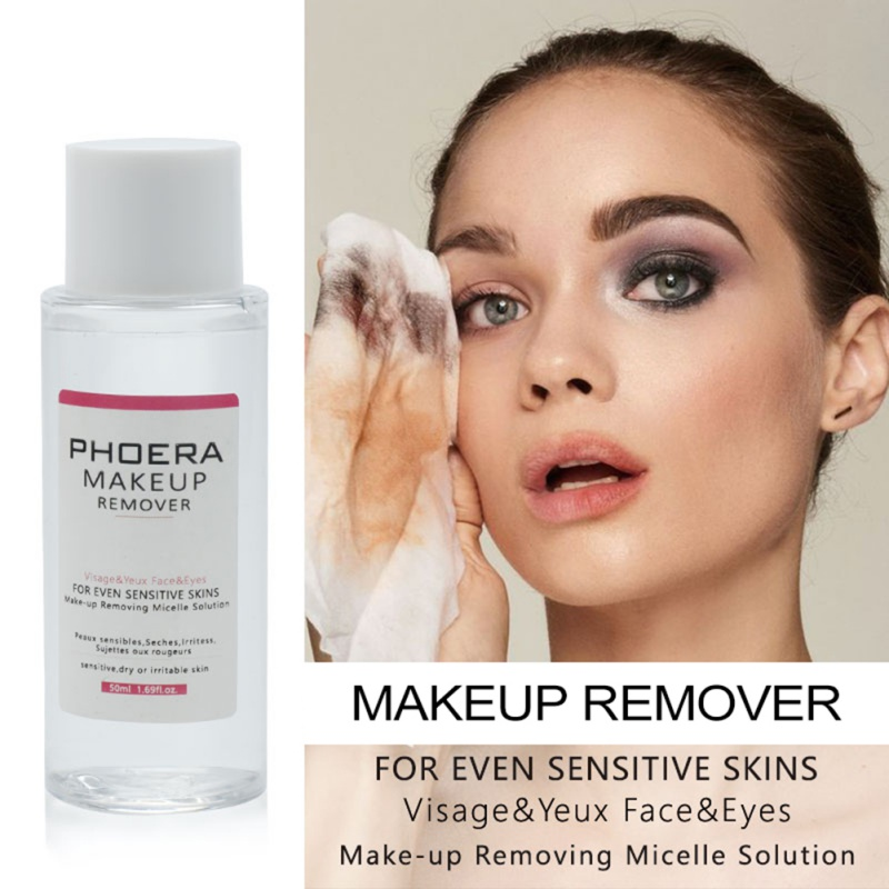2019 New 50ml Natural Whitening Makeup Remover Water Deep Cleansing Face Lips Eyes Makeup Removing Products in Makeup Remover from Beauty Health