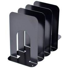 Черные металлические концы для книг. Прочные, Нескользящие, прочные. Экономичная универсальная подставка для книг, фильмов, DVD, журналов, видео