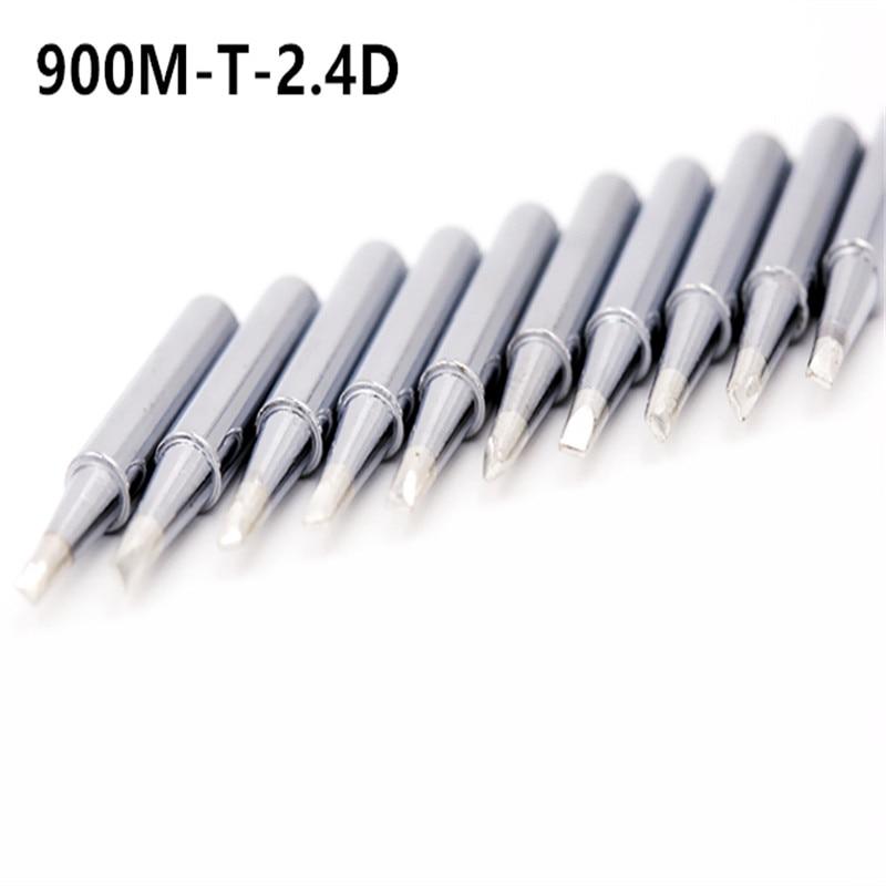 SZBFT 10XLead-Free Soldering Solder Iron Tips Welding Tips 900M-T-2.4D For Hakko 936 FreeShipping