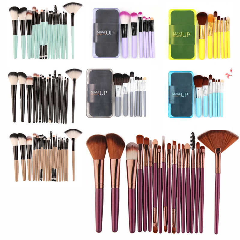 MAANGE 18/15/7Pcs Spazzole di Trucco Cosmetico Professionale Eyeshadow Blush, Fard Prodotti Di Base Brush Make Up Pennello Kit brochas maquillaje