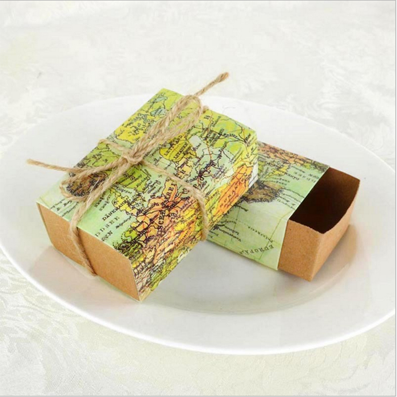 Best Buy 50pcs Around The World Map Gifts Boxes For Traveling
