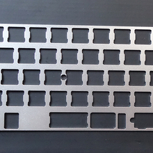 Universal Anodized Aluminum Plate for MX Switches of 60% Mechanical  Keyboard Add Arrow Keys Support