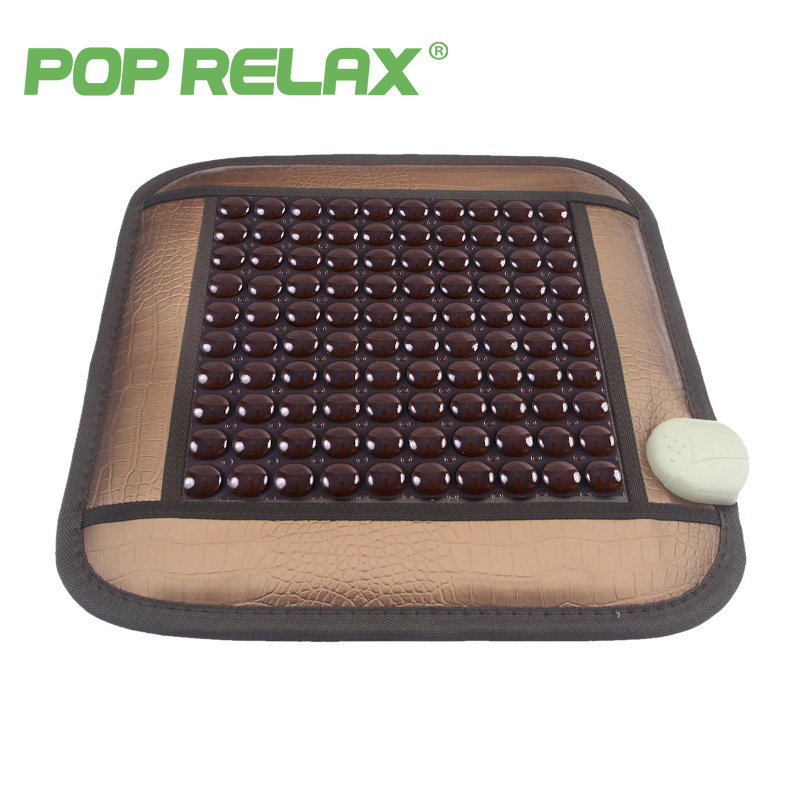 POP RELAX health care seat mattress tourmaline germanium jade roller far infrared electric heating computer chair sitting mat