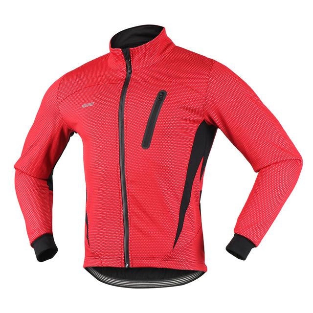 Men's Thermal Winter Cycling Warm Fleece Windproof Jacket