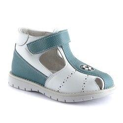 Sandalias para niño zapatos ortopédicos de cuero para niños nuevo anatómico azul