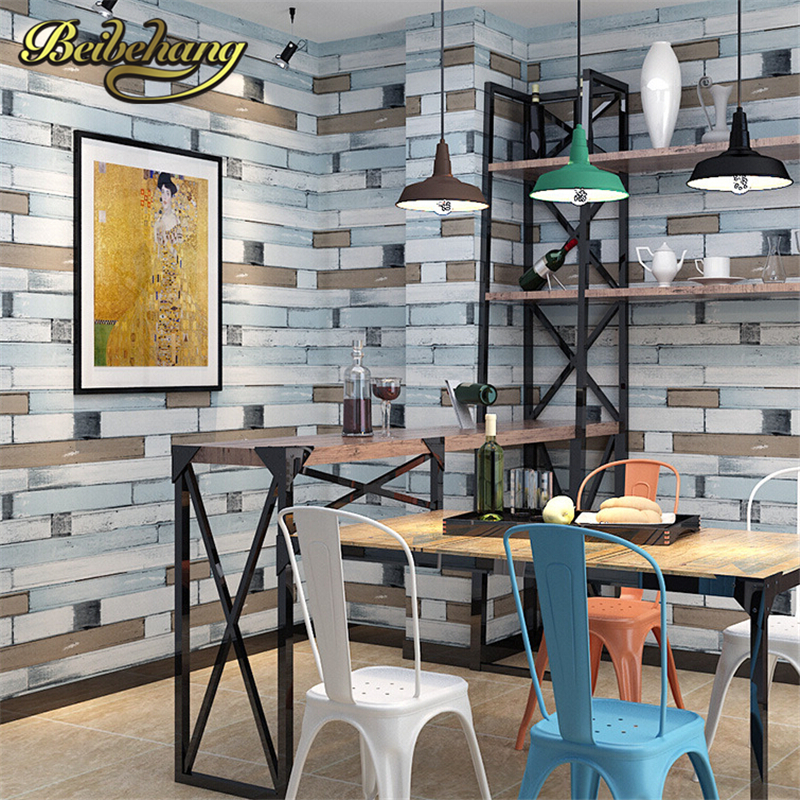 beibehang 3D wallpaper PVC Wall paper wood brick stone designs Wall covering stripe pattern Papel De Parede vintage style great wall vintage striae scotland small lattice stripe wallpaper wall paper vintage papel de parede vintage