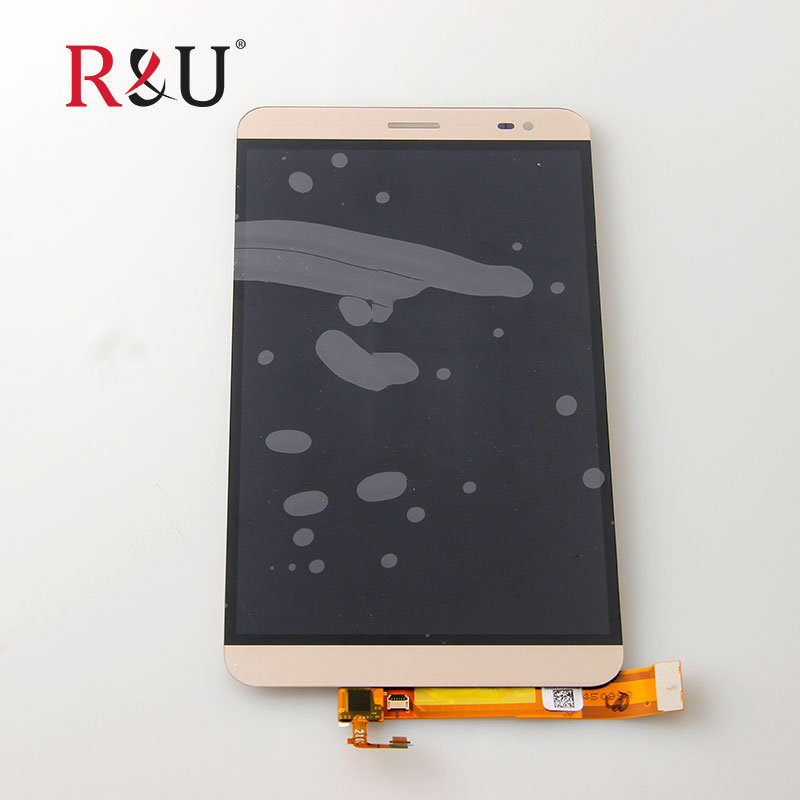 R&U high quality 7inch LCD Display + Touch screen panel digitizer Assembly with Frame replacement For Huawei MediaPad X1 gold for huawei honor 7 lcd display touch screen digitizer with frame lcd display assembly replacement pantalla black white gold tool