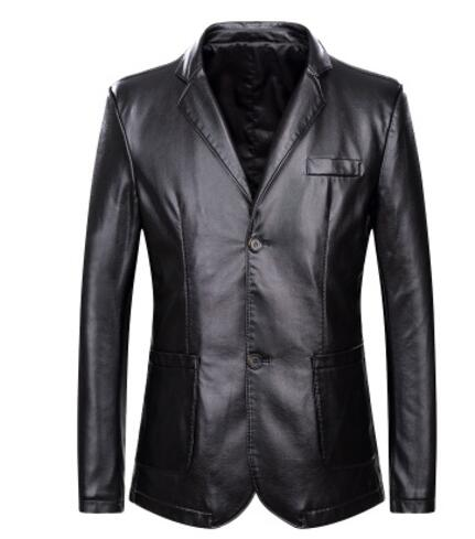 7a23b5385189d 2019 autumn and winter new long section suit men s suit collar large size  fat leather PU leather-in Jackets from Men s Clothing on Aliexpress.com