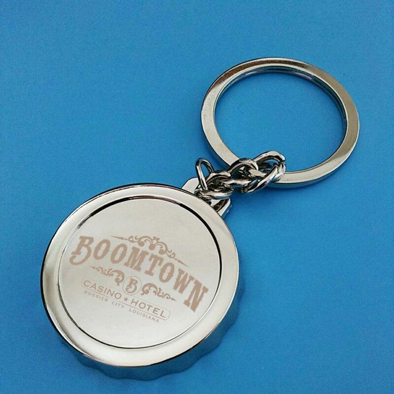 25x Custom Logo Engraved Metal Silver Bottle Opener Keyring Beer Bottle Cap Keychain Opener Corporate Giveaway