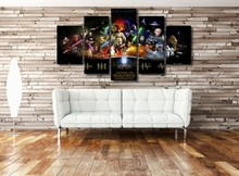 Star Wars 5 Panel Wall Decor Canvas Painting Poster