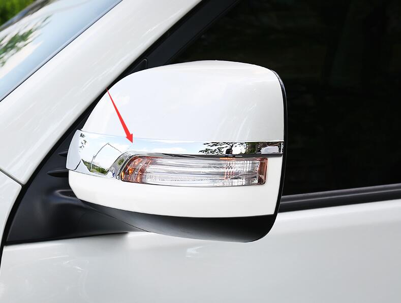 FOR <font><b>Toyota</b></font> Prado <font><b>J150</b></font> 150 2010-2014 high quality ABS Chrome Side Mirror Cover Rearview Rear Trim car-styling image