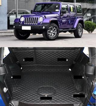 fiber leather car trunk mat for jeep wrangler 2011 2012 2013 2014 2015 2016 2017 2018 2018 jk car accessories