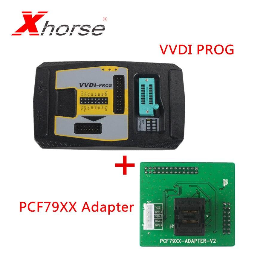 Original Xhorse VVDI PROG Programmer V4 8 1 Plus PCF79XX Adapter for VVDI PROG Programmer