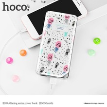 HOCO 10000MAH Portable Colorful Floral Printed Battery Mobile External Power Bank 2 USB Battery Charger Mobile Phone charger