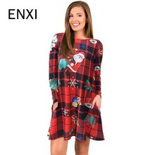 enxi winter autumn long sleeve maternity dresses father christmas knitted pregnant clothes dresses for pregnancy woman - Christmas Maternity Dresses