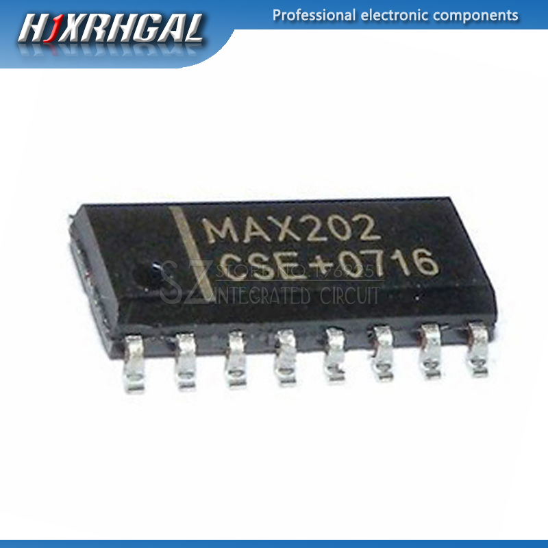 10pcs Max202cse Sop-16 Max202 Cse Rs-232 Interface Ic 5v Rs-232 Tcvr W/0.1uf External Cap Electronic Components & Supplies