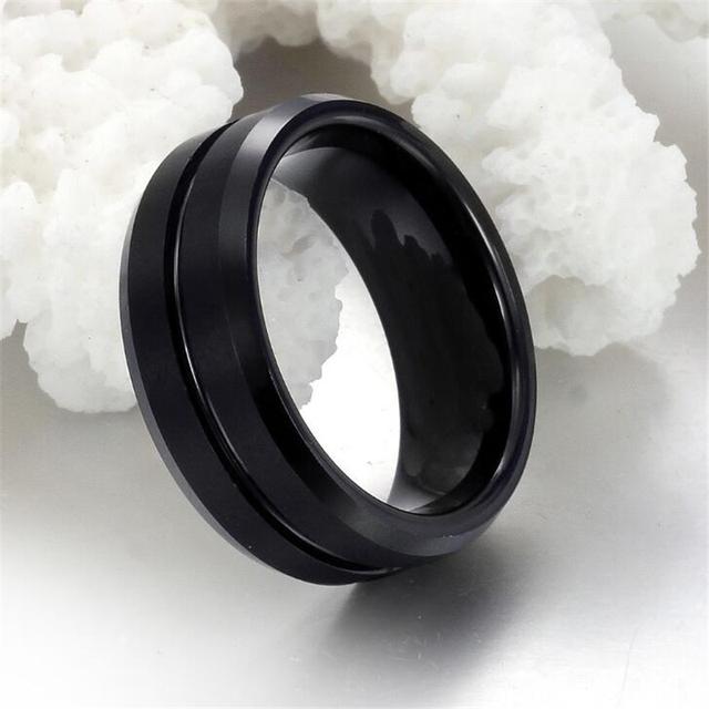 2018 New Black Men Ring 100% Titanium Carbide Men's Jewelry Wedding Bands Classic Boyfriend Gift #32874305910