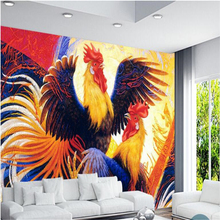 Custom Wallpaper Background-Decoration Living-Room Beibehang European-Style Rooster Cock