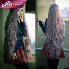 Mujeres pelucas de pelo Cosplay Mori chica de Color Harajuku Taro peluca largo rizado Ladies Wigs Heat Resistant peluca + Free cap