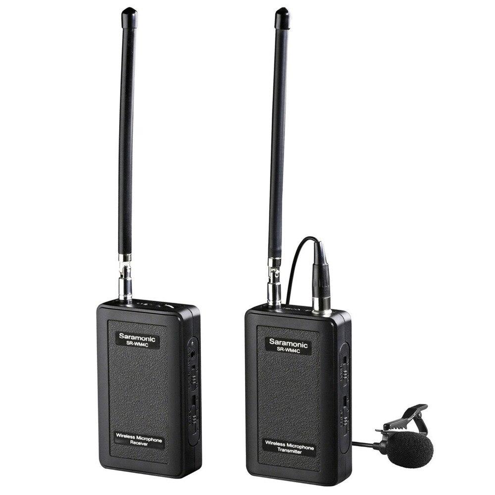 Saramonic SR-WM4C VHF Sistema de Microfone de Lapela Sem Fio para Canon Nikon Sony Dslr Camcorder Panasonic Cineasta