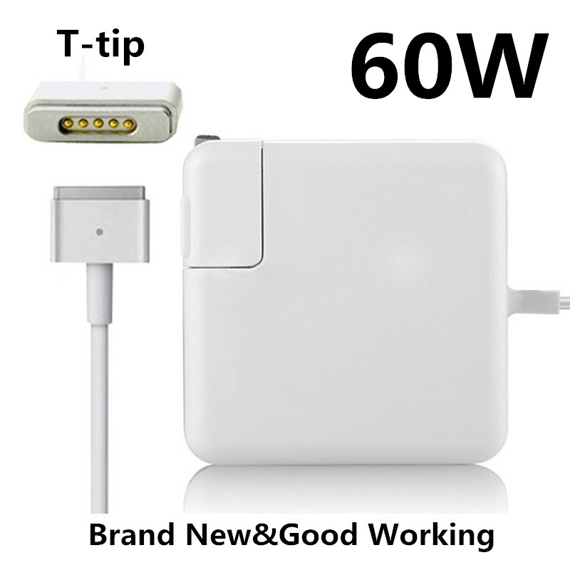 Replacement Magnetic T-tip 60W MagSaf* 2 Laptop Power Adapter Chargers For Apple MacBook Pro Retina 13'' A1425 A1435 A1502