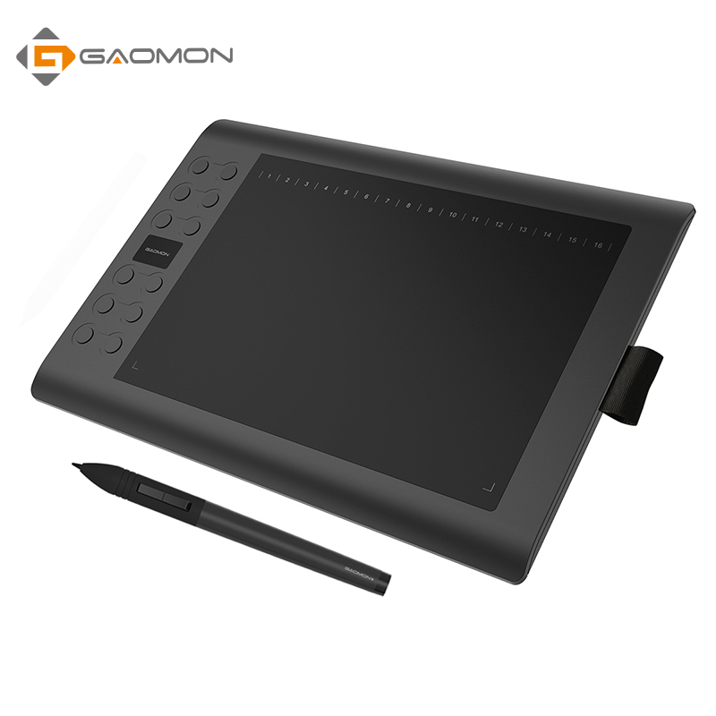 GAOMON M106K - Professional 10 x 6 Inches Drawing Digital Pen Graphic Tablet with Wireless Stylus
