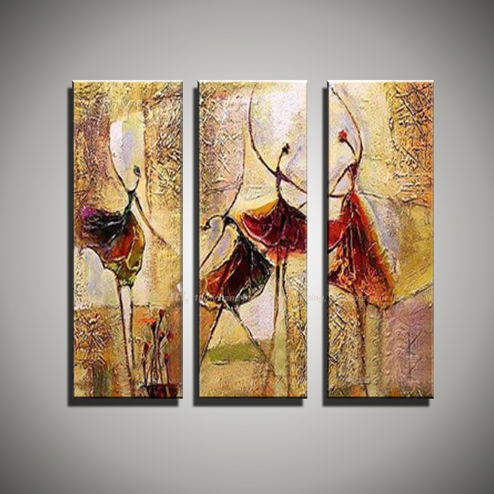 3 Piece Wall Art Art Paintings Ballerina Ballet Dancers Modern Abstract Oil  Paintings On Canvas Wall Pictures For Living Room In Painting U0026 Calligraphy  From ...