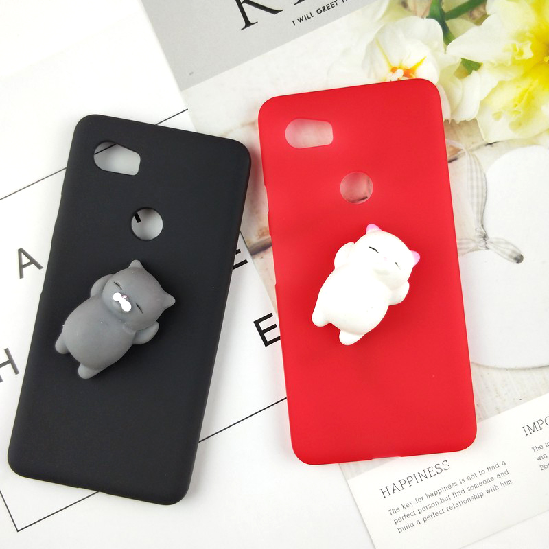 Cute Toys Squishy Case For Google Pixel 2 Funny Cat Cases For Google Pixel 2 5.0