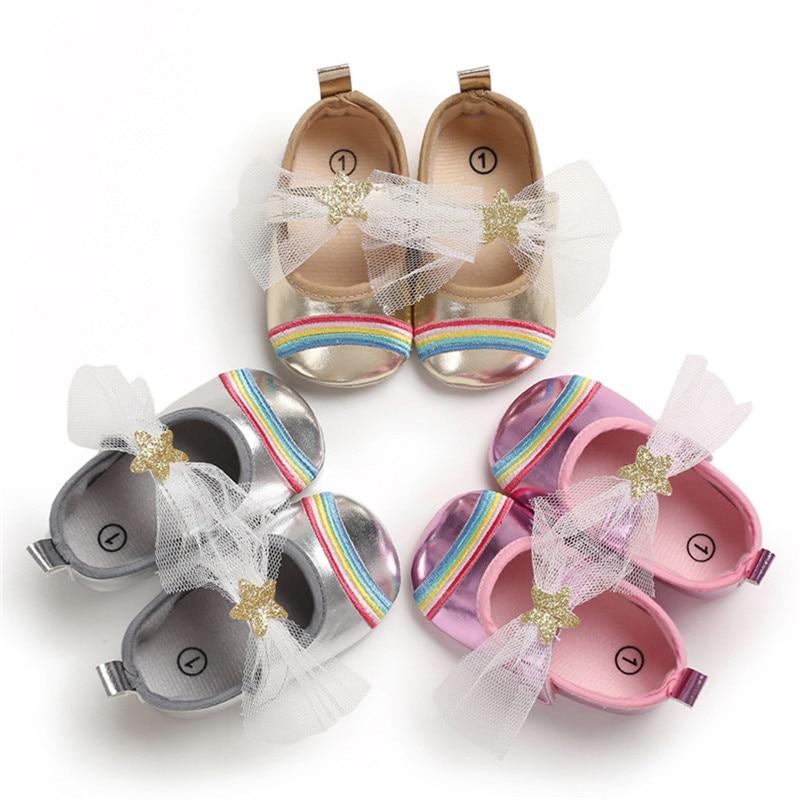 Baby Girl Shoes Children's Sandals Toddler Baby Girl Soft Sole Stars Applique Sandals Shoe Single Shoes Velcro Princess Shoe A1