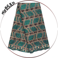 Latest French Nigerian Laces Fabrics High Quality African Fabric Lace Material Lilac Green Africa Cord For Party