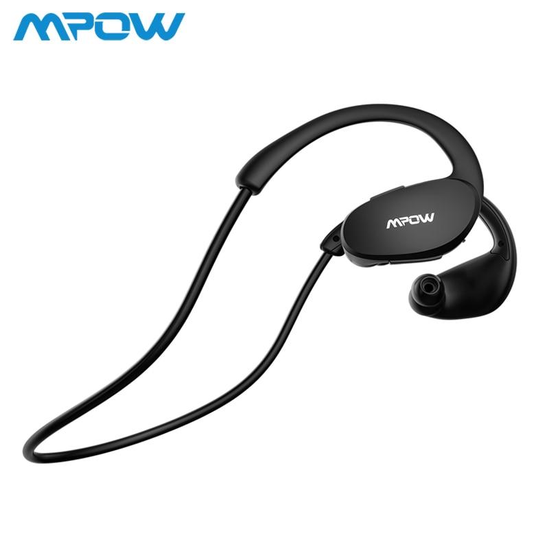 Mpow BH006 Bluetooth V4.1 auriculares Sweatproof deportes auriculares para corriendo construir-En micrófono manos libres auriculares