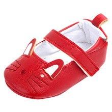 Милые туфли для новорожденных девочек; повседневная обувь с рисунком кота; обувь для маленьких девочек; нескользящая обувь для малышей; Прямая поставка