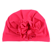 Fuchsia baby hat